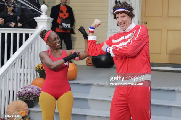 Mayor Bill de Blasio and First Lady Chirlane McCray host a Halloween Party for children at Gracie Mansion in New York City New York October 25 2019