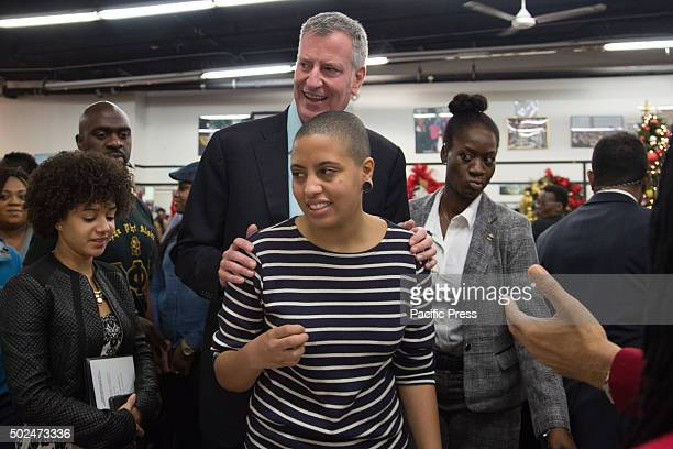 Mayor Bill de Blasio attended the National Action Networks annual Christmas day toy give away & community meal for the hungry. The Mayor & Chiara de...
