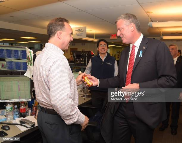 Mayor Bill de Blasio attends Annual Charity Day Hosted By Cantor Fitzgerald nd BGC at Cantor Fitzgerald on September 11 2014 in New York City