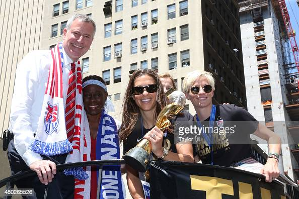 New York City Holds Ticker Tape Parade For World Cup ...