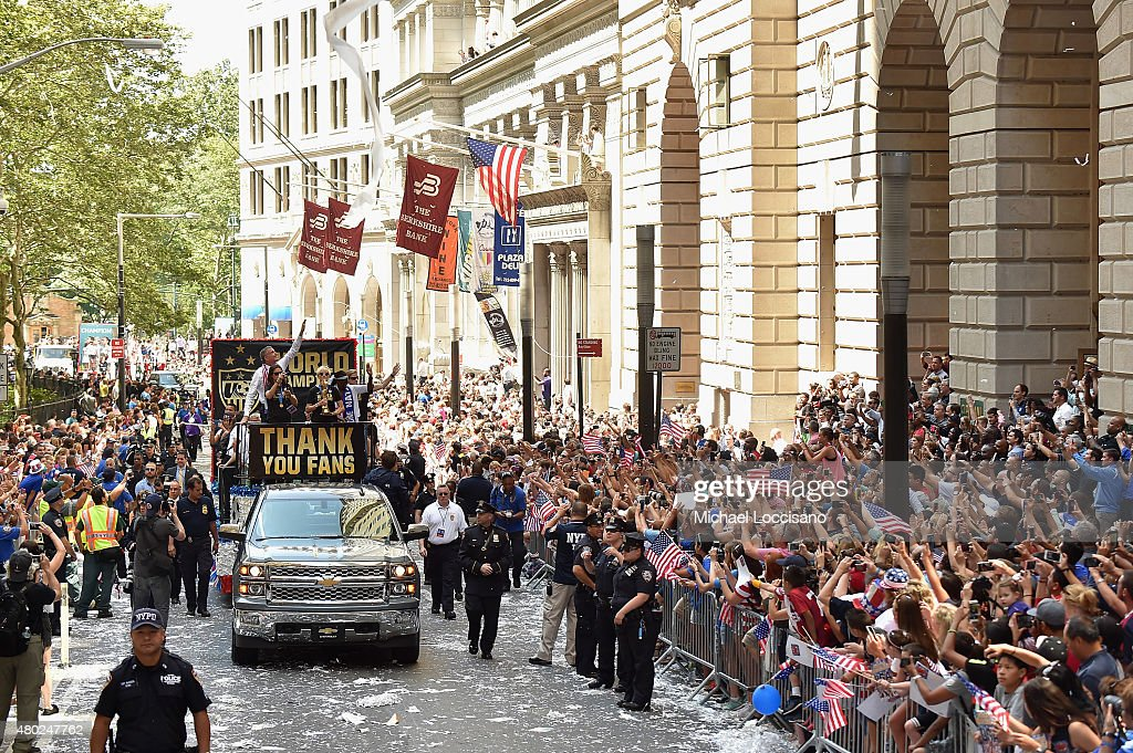 New York City Holds Ticker Tape Parade For World Cup Champions U.S. Women's Soccer National Team : News Photo