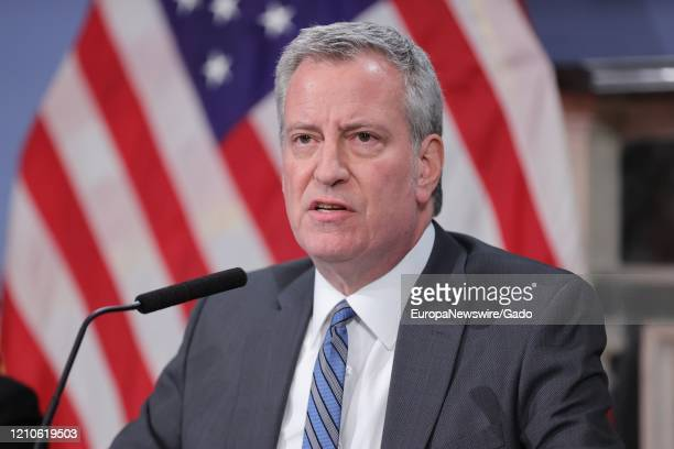 Mayor Bill de Blasio updates New Yorkers on the City's preparedness efforts regarding COVID-19, March 4, 2020. The Department of Health and Mental...