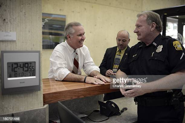 Mayor Bob Buckhorn of Tampa at his municipal offices in downtown Tampa August 10 2012