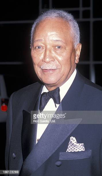 Mayor David Dinkins attending 'Benefit for Hello FriendEnnis William Cosby Foundation' on April 2 2001 at Pier 60 at the Chelsea Piers in New York...