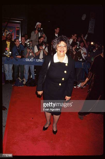 Mayor David Dinkins wife Joyce attends the premiere of the film Cry the Beloved Country at the Ziegfeld Theatre October 23 1995 in New York City The...