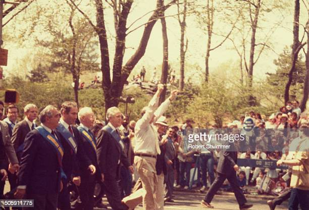 CONTENT] Mayor Ed Koch at the Salute to Israel Parade in 1985