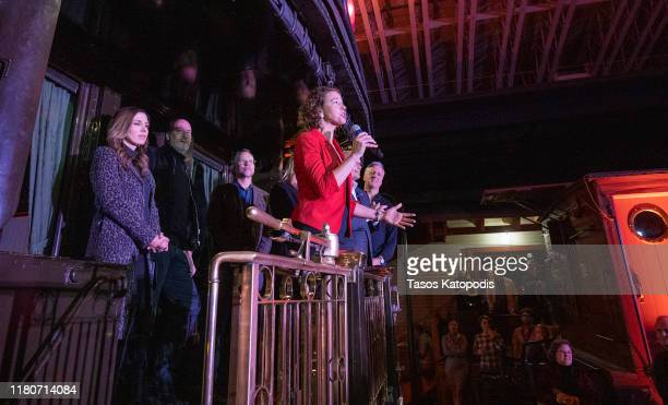 Mayor Emily Larson attends the VIP Party Sponsored by Abrams Artists Agency at The Lake Superior Railroad Museum on October 12 2019 in Duluth...