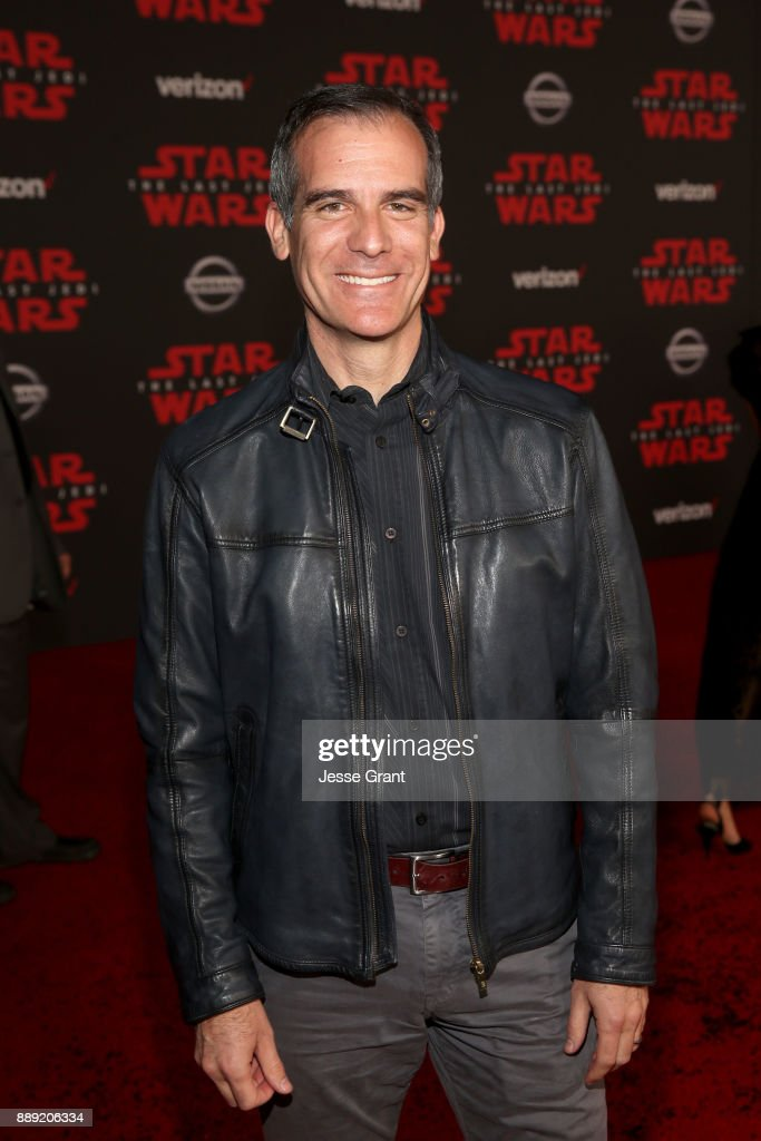 Mayor Eric Garcetti at the world premiere of Lucasfilm's Star Wars: The Last Jedi at The Shrine Auditorium on December 9, 2017 in Los Angeles, California.