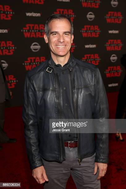 Mayor Eric Garcetti at the world premiere of Lucasfilm's Star Wars The Last Jedi at The Shrine Auditorium on December 9 2017 in Los Angeles California