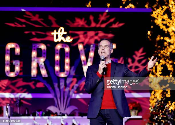 Mayor Eric Garcetti attends Christmas at The Grove A Festive Tree Lighting celebration at The Grove on November 17 2019 in Los Angeles California