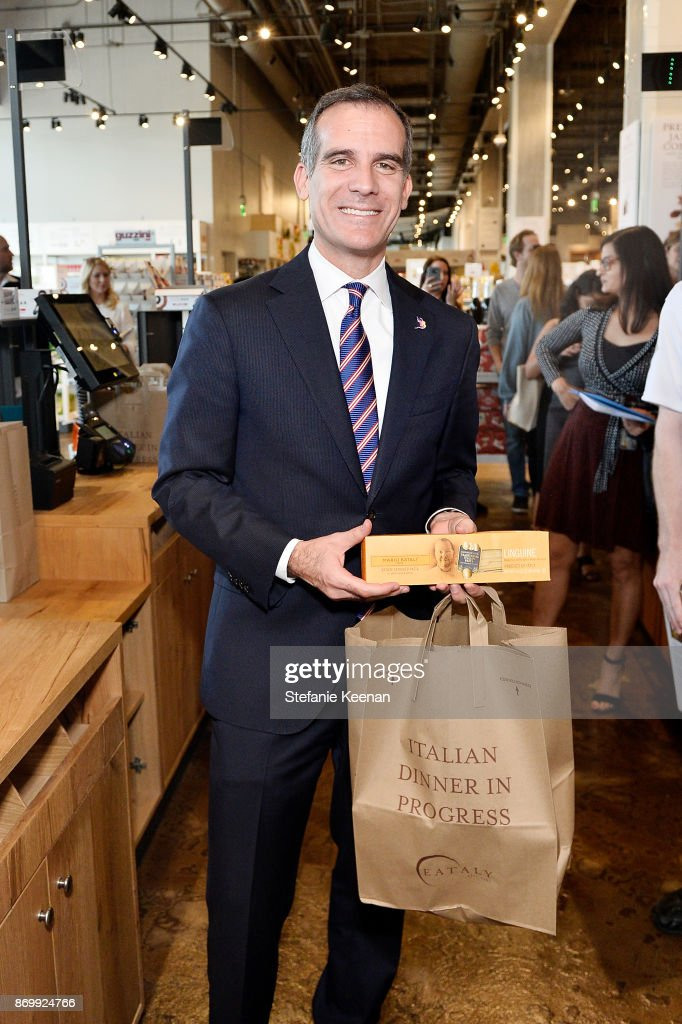 Mayor Eric Garcetti attends Eataly Los Angeles Grand Opening Celebration at Eataly LA on November 3, 2017 in Los Angeles, California.