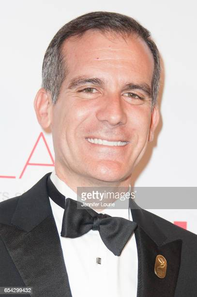 """Mayor Eric Garcetti attends the American Red Cross Centennial Celebration to Honor Disney as the """"Humanitarian Company of The Year"""" at the Beverly..."""