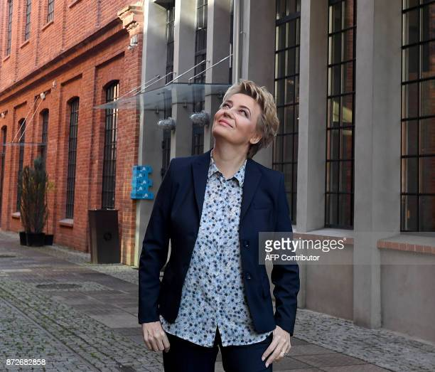Mayor Hanna Zdanowska stands in front of The Art Factory in Lodz Poland on November 4 the former textile factory now offers coworking space...