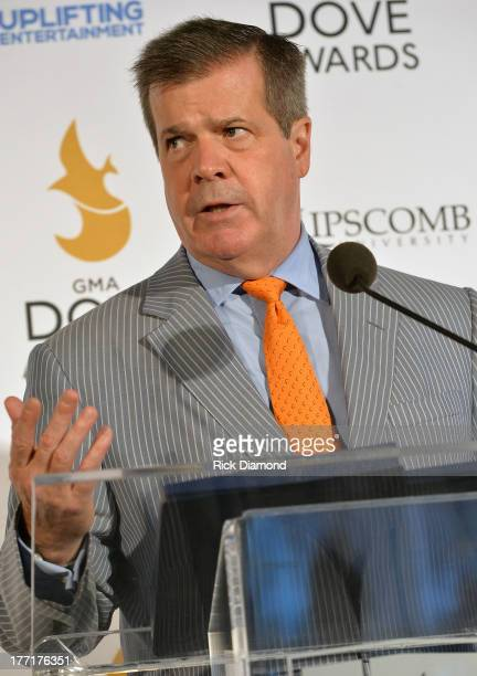 Mayor Karl Dean welcomes the 44th Annual GMA Dove Awards return to Nashville at Allen Arena, Lipscomb University on August 21, 2013 in Nashville,...