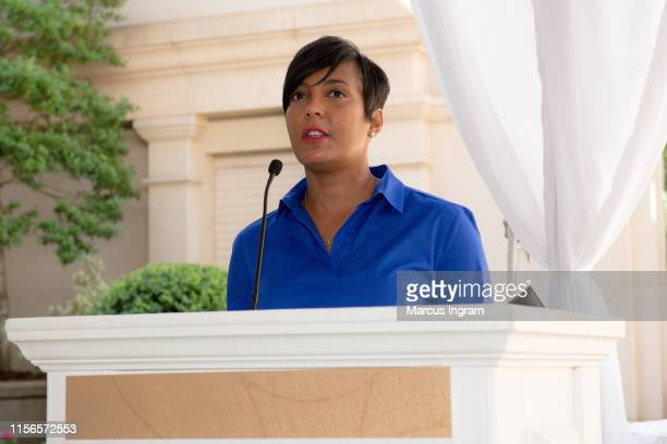 Mayor Keisha Lance Bottoms speaks onstage during the City of Hope Sylvia Rhone Spirit Of Life Kickoff Breakfast at St Regis Buckhead on June 17 2019...