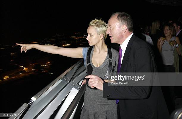 Mayor Ken Livingstone Shows Samantha Morton The Views Of London 'Minority Report' Premiere Party Was Held At The Brand New City Hall London