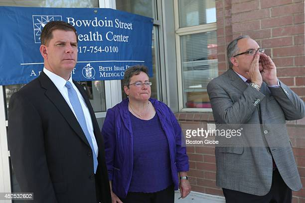 Mayor Marty Walsh who attended the Bowdoin Street Health Center Groundbreaking Ceremony at Bowdoin Street Health Center 230 Bowdoin Street in...