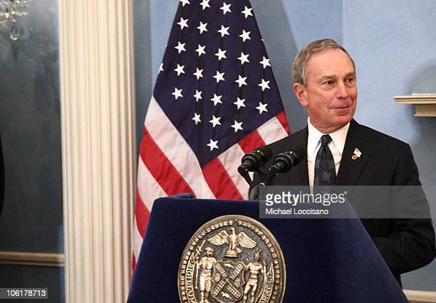 """Mayor Michael Bloomberg addresses the audience during the HBO Documentary Films Screening of """"The Gates"""" at Gracie Mansion in New York City on..."""