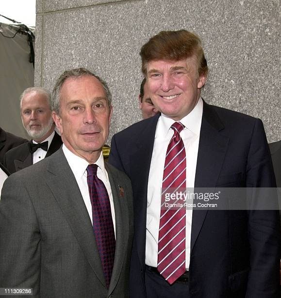 Mayor Michael Bloomberg and Donald Trump during 20th Anniversary Gala for Vietnam Veterans at Vietnam Veterans Memorial Plaza in New York City, New...