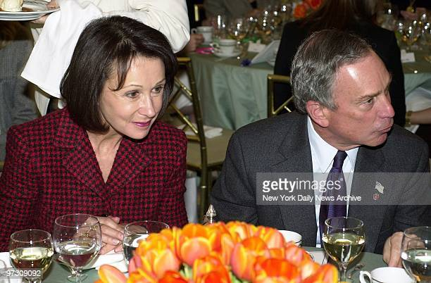 Mayor Michael Bloomberg and his former wife Susan Brown share a table at a luncheon in the St Regis Hotel on Fifth Ave where the American Cancer...