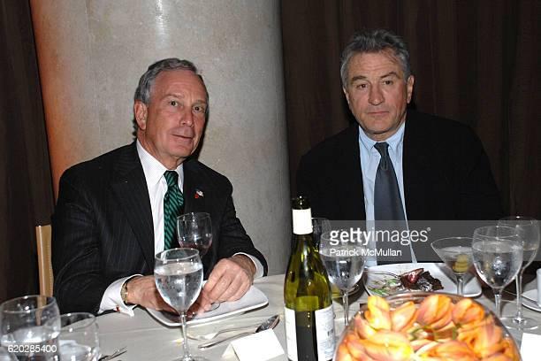 Mayor Michael Bloomberg and Robert De Niro attend VANITY FAIR Tribeca Film Festival Party hosted by GRAYDON CARTER ROBERT DE NIRO and RONALD PERELMAN...