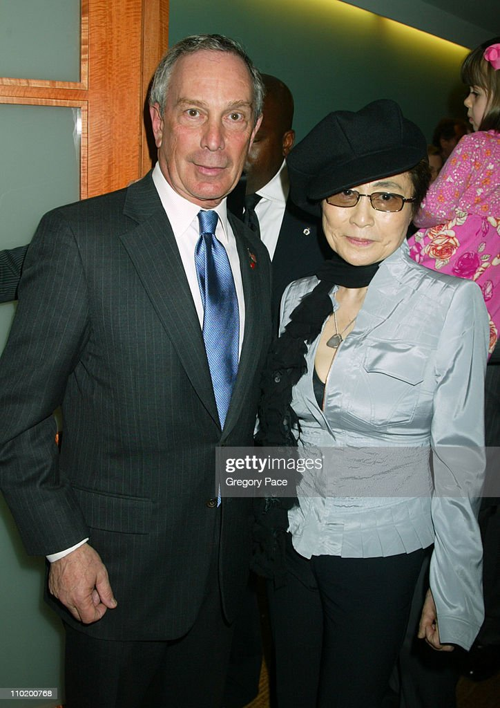 Mayor Michael Bloomberg and Yoko Ono during Caron Foundation's Grand Opening of NYC Recovery Center Specializing in the Treatment of Drug and Alcohol Abuse in Adolescents at Caron's New York Recovery Center in New York City, New York, United States.