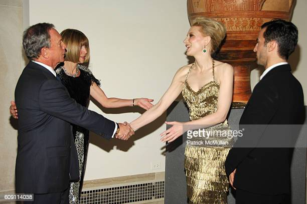 Mayor Michael Bloomberg Anna Wintour Cate Blanchett and Nicolas Ghesquiere attend The COSTUME INSTITUTE Gala in honor of POIRET KING OF FASHION at...