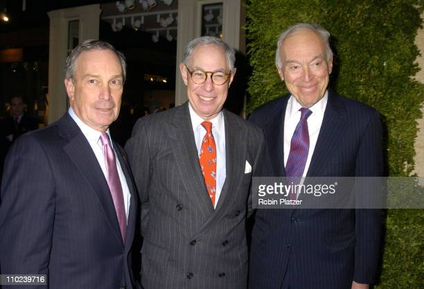 Mayor Michael Bloomberg Arie Koppelman and Leonard Lauder