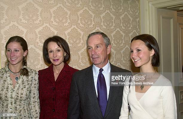 Mayor Michael Bloomberg arrives for luncheon with his former wife Susan Brown and their daughters Emma and Georgina 19 They gathered at the St Regis...