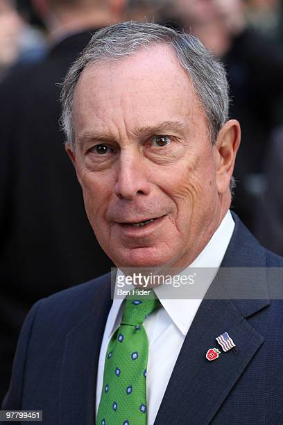 Mayor Michael Bloomberg attends the 249th New York City St Patrick's Day Parade on March 17 2010 in New York City