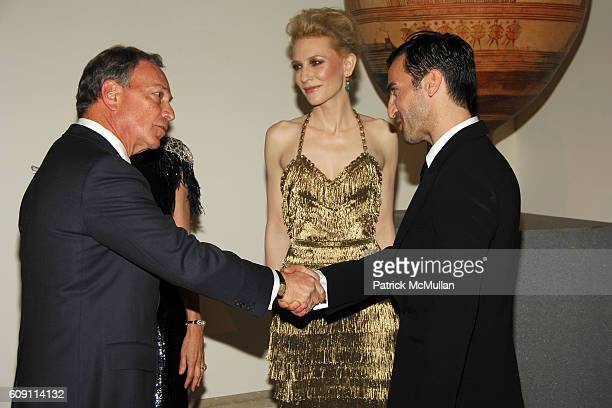 Mayor Michael Bloomberg Cate Blanchett and Nicolas Ghesquiere attend The COSTUME INSTITUTE Gala in honor of POIRET KING OF FASHION at The...