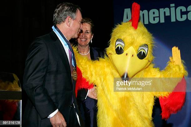 Mayor Michael Bloomberg Cheryl Healton and Chicken Little attend The American Legacy Foundation's Honors Event a Gala Recognizing Leadership In...
