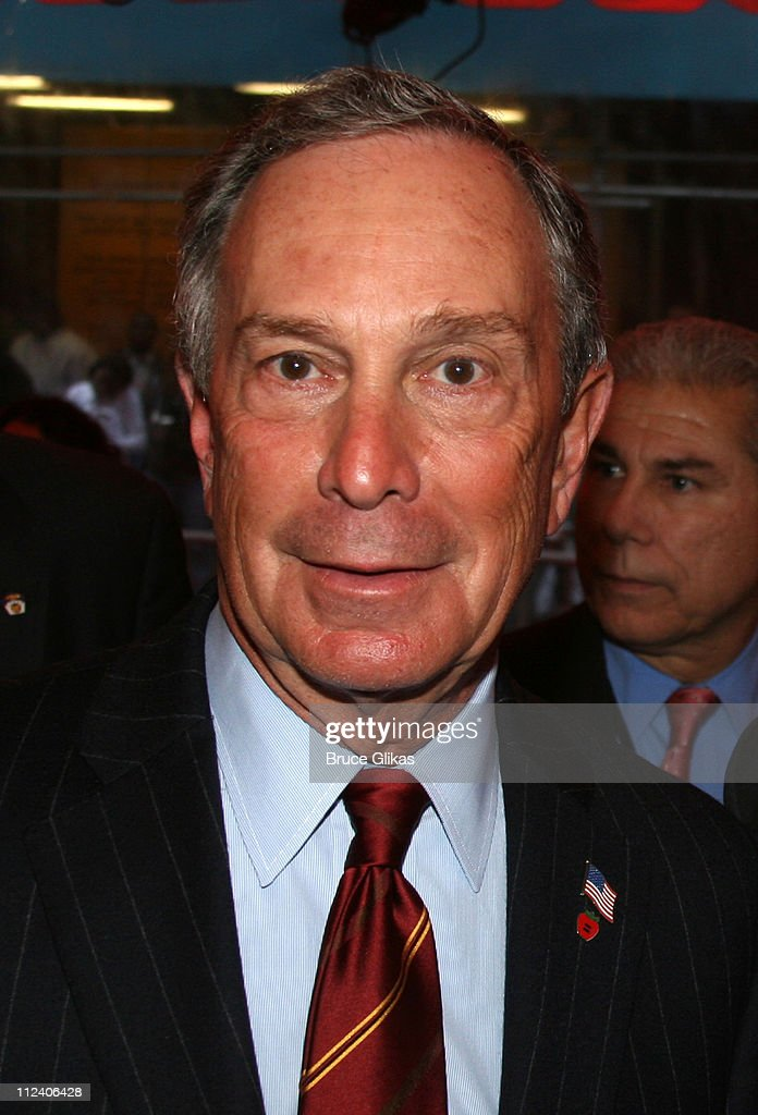 Mayor Michael Bloomberg during 'Rent' Celebrates 10th Anniversary on Broadway - April 24, 2006 at The Nederlander Theater in New York, New York, United States.