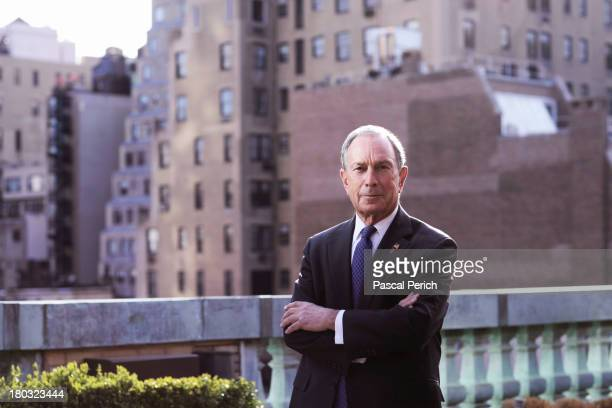 Mayor Michael Bloomberg is photographed for Financial Times on April 15 2013 in New York City PUBLISHED IMAGE