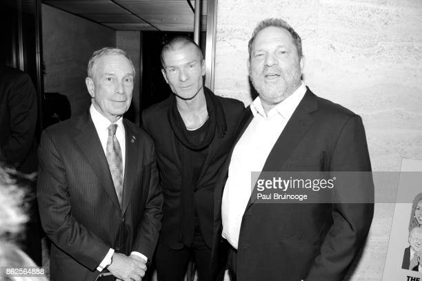 Mayor Michael Bloomberg Vivi Nevo and Harvey Weinstein attend The New York Observer 25th Anniversary at The Four Seasons Restaurant on March 14 2013...