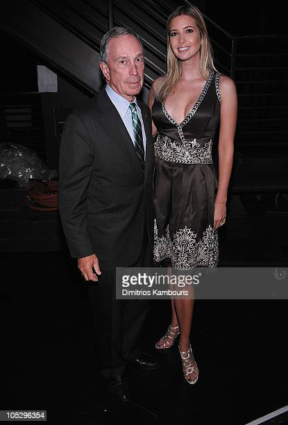 Mayor Michael R Bloomberg and Ivanka Trump attend FFANY Shoes on Sale Benefit for Breast Cancer Research and Education presented by QVC at Frederick...