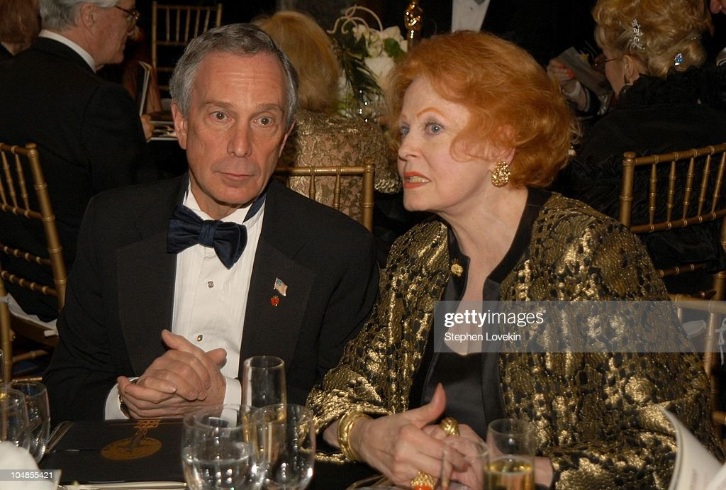 Mayor Mike Bloomberg and Arlene Dahl during Official 2003 Academy of Motion Picture Arts and Sciences Oscar Night Party at Le Cirque 2000 at Le Cirque 2000 in New York, NY, United States.