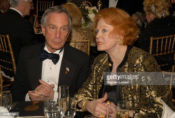 Mayor Mike Bloomberg and Arlene Dahl during Official 2003 Academy of Motion Picture Arts and Sciences Oscar Night Party at Le Cirque 2000 at Le...