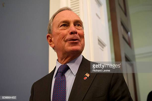 Mayor Mike Bloomberg entering the Blue Room, City Hall before announcing gas rationing, using the odd even system, will begin in New York City, on...