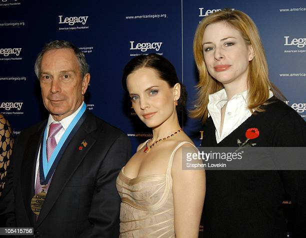 Mayor Mike Bloomberg Mena Suvari and Diane Neal during 2nd Annual American Legacy Foundation Honors Gala at Cipriani's in New York City New York...