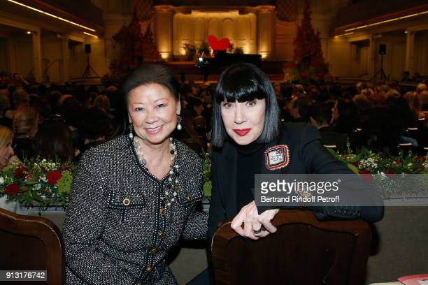 Mayor of 8th District of Paris Jeanne D'hauteserre and Chantal Thomass attend the Heart Gala Evening to benefit the Mecenat Chirurgie Cardiaque at...