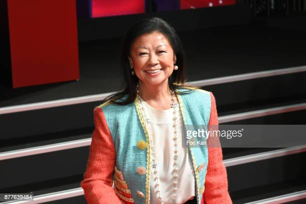 Mayor of 8th district of Paris Jeanne d'Hauteserre attends Christmas Lights Launch On The Champs Elysees on November 22 2017 in Paris France