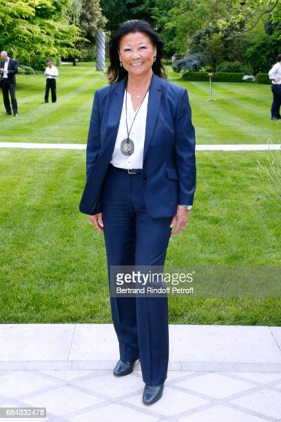 Mayor of 8th District of Paris Jeanne D'hauteserre attends the Neighbours' Day Cocktail at British Embassy on May 17 2017 in Paris France