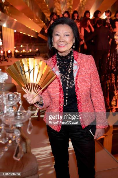 Mayor of 8th District of Paris Jeanne D'Hautesserre attends the 80th Kenzo Takada Birthday Party at Pavillon Ledoyen on February 28 2019 in Paris...
