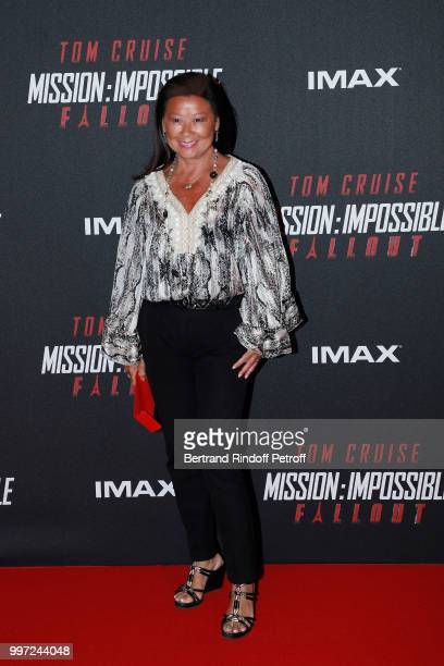Mayor of 8th District of Paris Jeanne D'Hautesserre attends the Global Premiere of 'Mission Impossible Fallout' at Palais de Chaillot on July 12 2018...