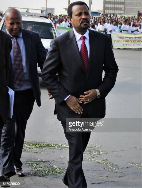Mayor of Addis Ababa Driba Kuma attends the celebration of the 121st Anniversary of Ethiopia's Battle of Adwa at King II Menelik Square in Addis...