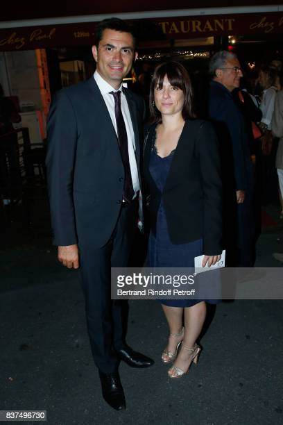 Mayor of Angouleme Xavier Bonnefont and his wife Fanny attend the 10th Angouleme FrenchSpeaking Film Festival Dinner after the Opening Ceremony on...