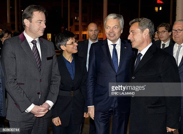 Mayor of Antwerp and N-VA chairman Bart De Wever , Antwerp province governor Cathy Berx , President of French wight-wing opposition Les Republicains...