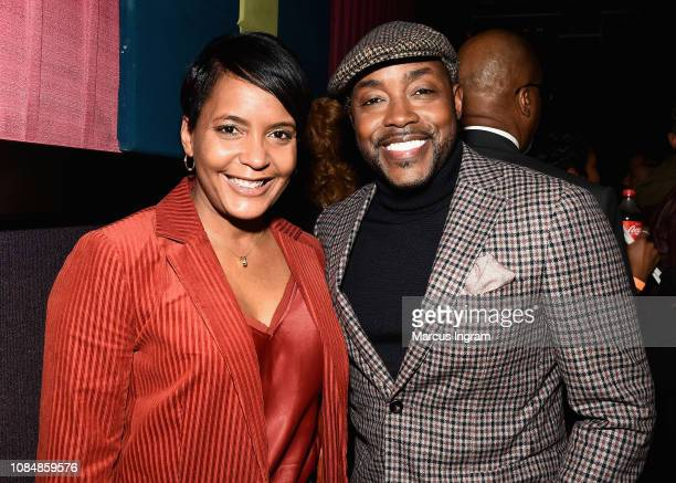 Mayor of Atlanta Keisha Lance Bottoms and producer Will Packer attend a special screening of 'What Men Want' at Regal Atlantic Station on January 18...
