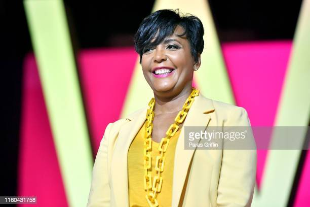 Mayor of Atlanta Keisha Lance Bottoms speaks on stage at 2019 ESSENCE Festival Presented By CocaCola at Ernest N Morial Convention Center on July 06...